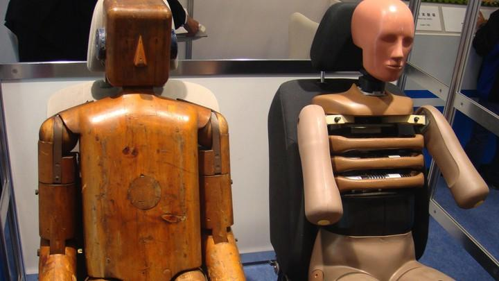 Old and new crash test dummy