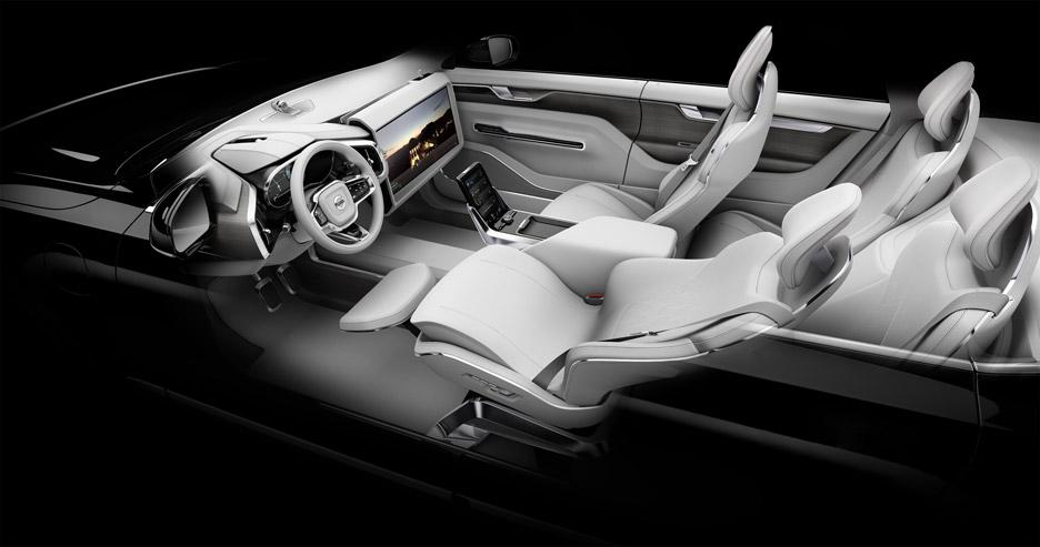 Autonomous vehicle reclined seating concept by Volvo